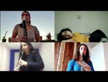 Arturo Márquez - Danzón No.5 Portales de Madrugada por Cuartetas (cuarteto de clarinetes de la EMVA)