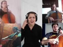 Metallica - Nothing else matters por el cuarteto de Violoncellos de la EMVA y Julia Araújo (soprano)