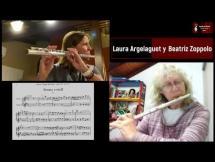 G.P. Telemann - Sonata en Mi menor para 2 flautas por la cátedra de Flauta Traversa de la EMVA